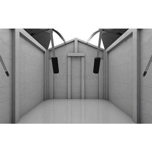 Robotniiduki garaaž seest